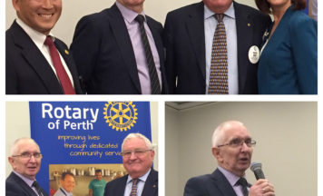 Rotary Club of Perth Donates to Reflections in memory of Tony Gardner